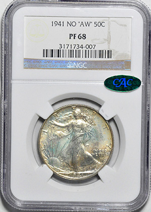 Picture of 1941 WALKING LIBERTY 50C PR68