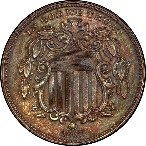 Picture of 1867 - 5C J-573A PR64 Brown
