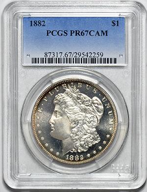 Picture of 1882 MORGAN S$1 PR67 Cameo