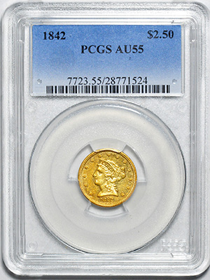 Picture of 1842 LIBERTY $2 1/2 AU55