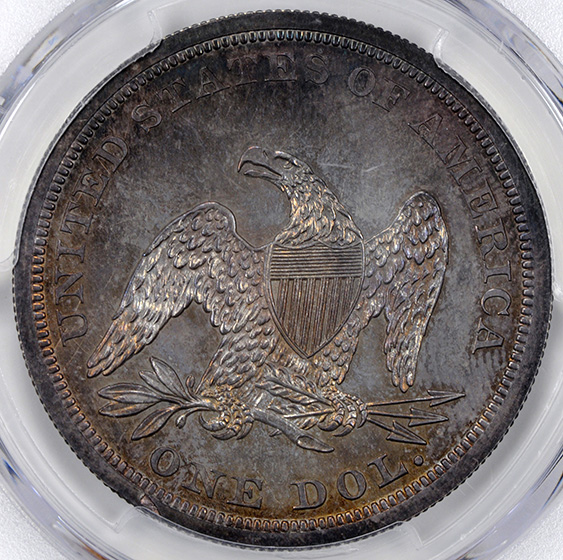 Picture of 1846 LIBERTY SEATED S$1, NO MOTTO PR64+