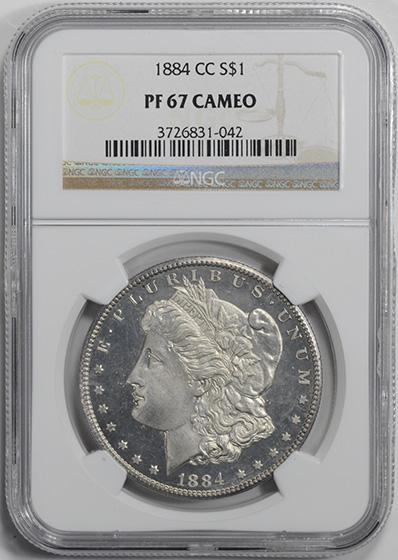 Picture of 1884-CC MORGAN $1 PR67 Cameo