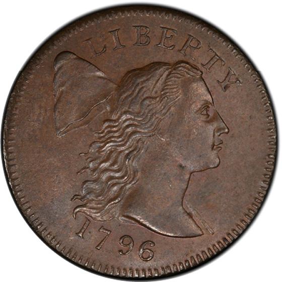 Picture of 1796 LIBERTY CAP 1C, LIBERTY CAP, DENT. BORDER MS62 Brown