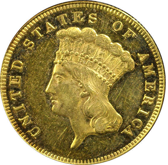 Picture of 1877 INDIAN PRINCESS $3 MS61