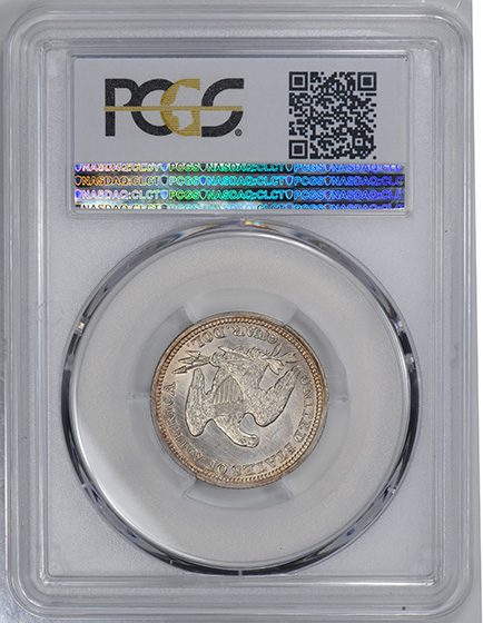 Picture of 1850 LIBERTY SEATED 25C, NO MOTTO MS64