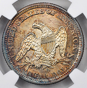 Picture of 1859-O LIBERTY SEATED 25C, NO MOTTO MS67
