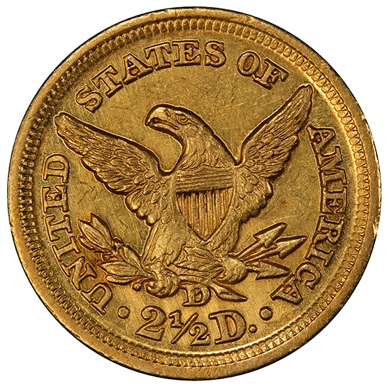 Picture of 1859-D LIBERTY $2 1/2 MS61