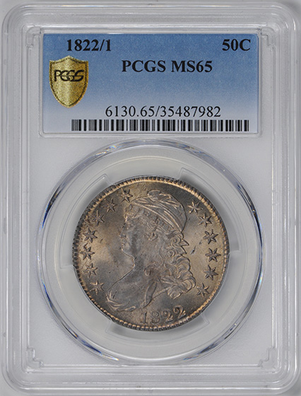 Picture of 1822/1 CAPPED BUST 50C, LETTERED EDGE MS66