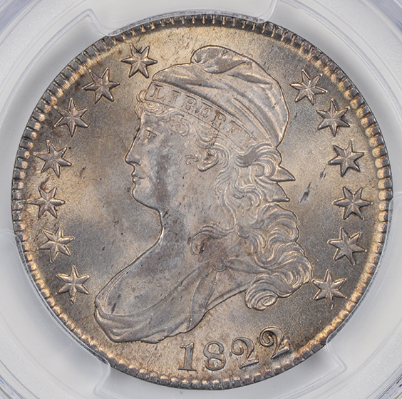 Picture of 1822/1 CAPPED BUST 50C MS65