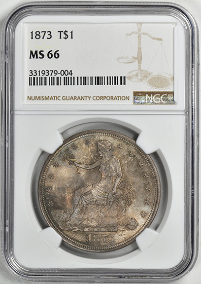 Picture of 1873 TRADE T$1, TRADE MS66