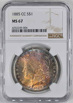 Picture of 1885-CC MORGAN S$1 MS67
