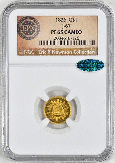 Picture of 1836 PATT G$1 J-67 PR65 Cameo