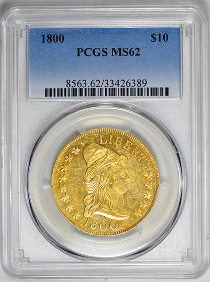 Picture of 1800 BUST $10, LARGE EAGLE MS62