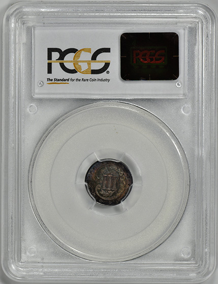 Picture of 1857 SILVER 3CS, TYPE 2 MS66