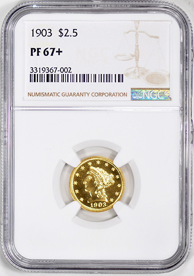 Picture of 1903 LIBERTY $2 1/2 PR67+