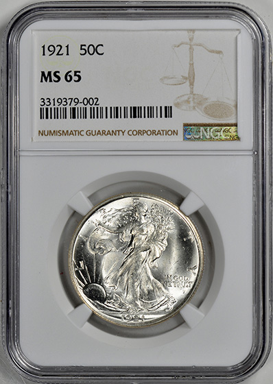 Picture of 1921 WALKING LIBERTY 50C MS65