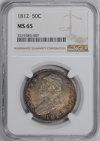 Picture of 1812 CAPPED BUST 50C, LETTERED EDGE MS65