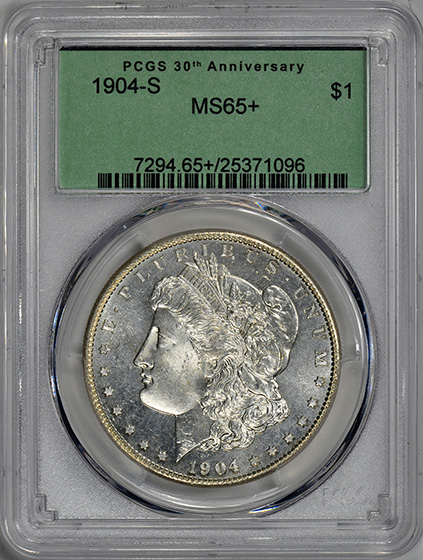 Picture of 1904-S MORGAN S$1 MS65+