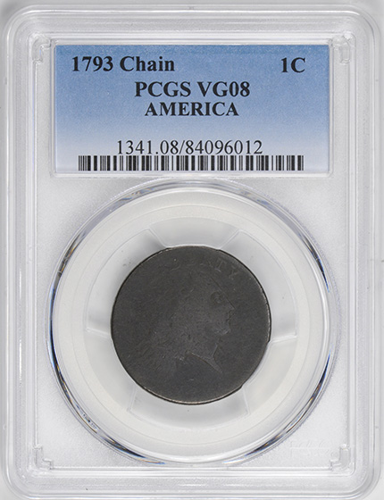 Picture of 1793 CHAIN 1C, AMERICA 08