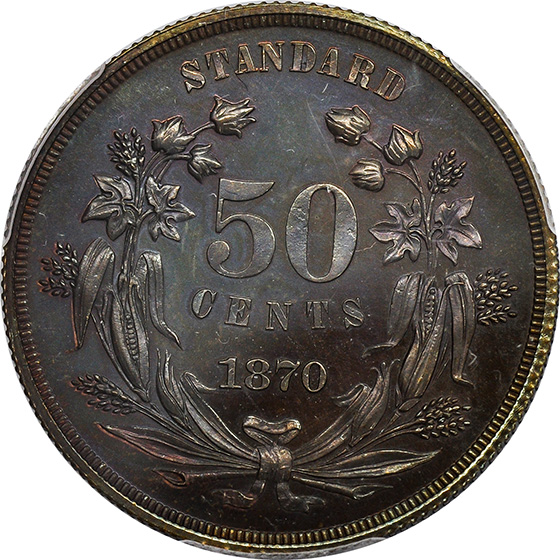 Picture of 1870 50C J-947 PR66 Brown