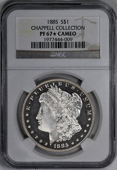 Picture of 1885 MORGAN S$1 PR67 Cameo