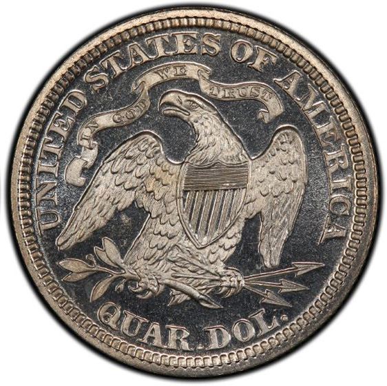 Picture of 1875 LIBERTY SEATED 25C PR66+ Deep Cameo