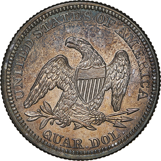 Picture of 1858 LIBERTY SEATED 25C, NO MOTTO PR66 Cameo