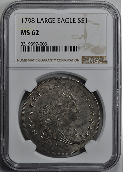 Picture of 1798 BUST $1, LARGE EAGLE MS62