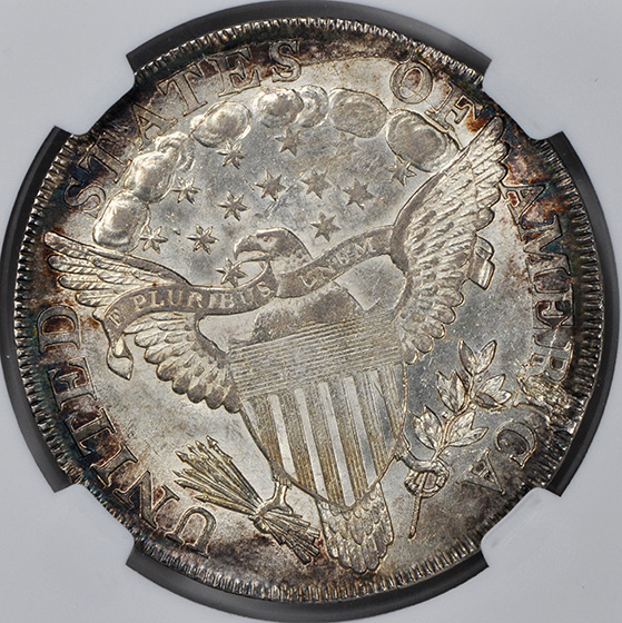 Picture of 1799/8 BUST $1, 13 REVERSE STARS, LARGE EAGLE MS63