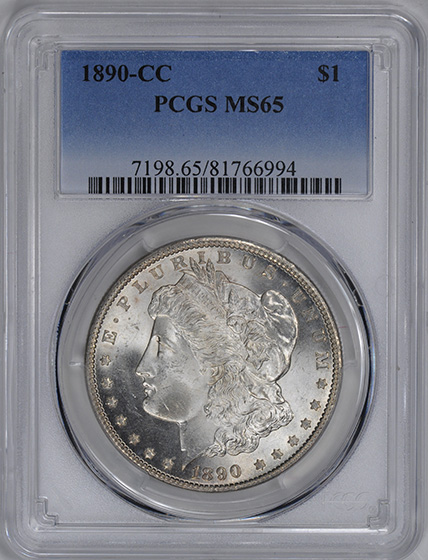 Picture of 1890-CC MORGAN S$1 MS65
