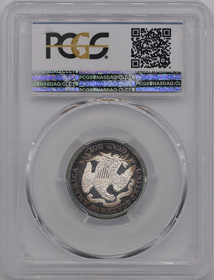 Picture of 1873 LIBERTY SEATED 25C, ARROWS, MOTTO PR65
