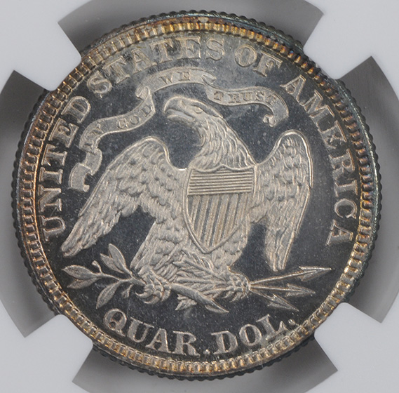 Picture of 1884 LIBERTY SEATED 25C, MOTTO PR68 Cameo
