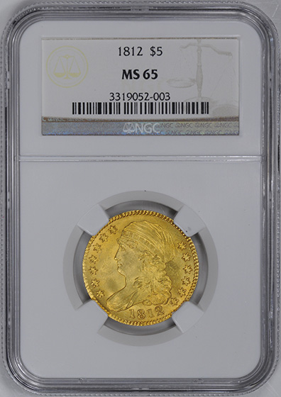 Picture of 1812 CAPPED BUST $5, LARGE BUST MS65