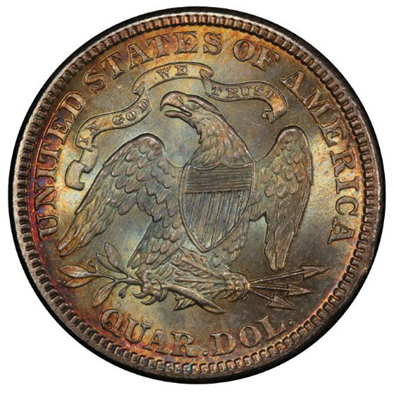 Picture of 1885 LIBERTY SEATED 25C, MOTTO MS67+