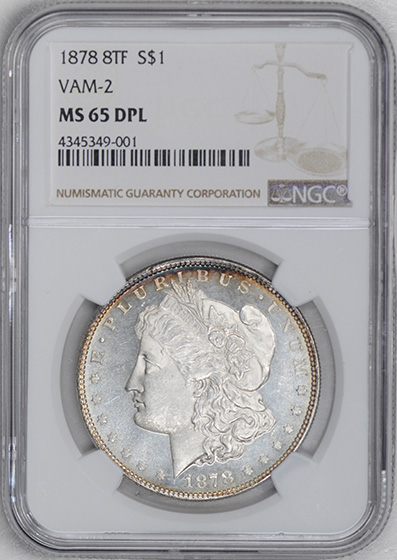 Picture of 1878 8TF MORGAN S$1 MS65 Deep Mirror