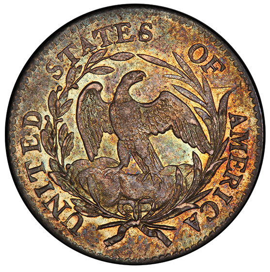 Picture of 1797 DRAPED BUST 10C, 16 STARS, SMALL EAGLE MS62