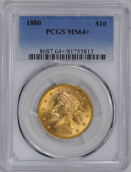 Picture of 1880 LIBERTY $10 MS64+