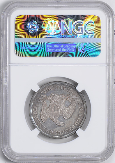 Picture of 1855 LIBERTY SEATED 50C, ARROWS PR65