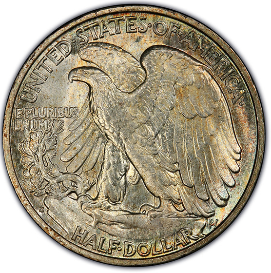 Picture of 1927-S WALKING LIBERTY 50C MS66