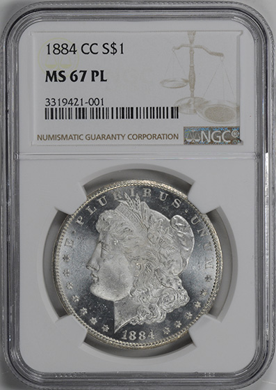Picture of 1884-CC MORGAN S$1 MS67 Proof Like
