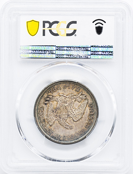 Picture of 1841 LIBERTY SEATED 50C, NO MOTTO MS64
