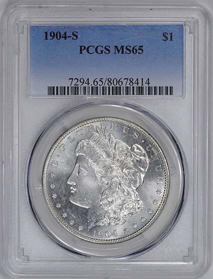Picture of 1904-S MORGAN S$1 MS65