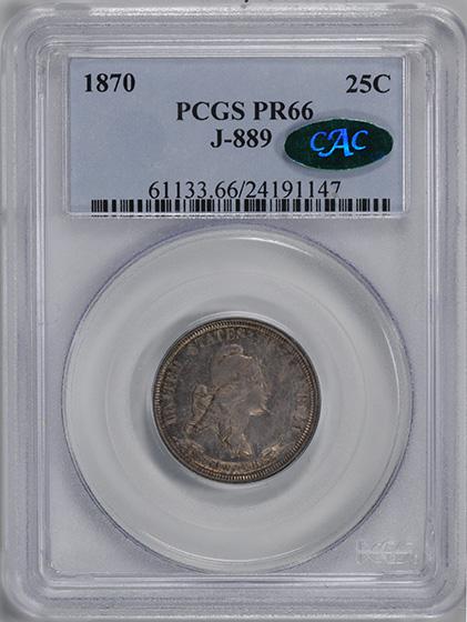 Picture of 1870 25C J-889 PR66