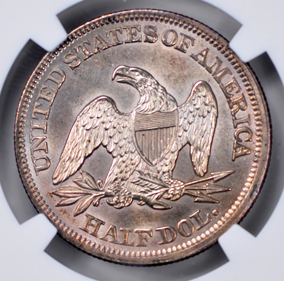Picture of 1852 LIBERTY SEATED 50C MS66+
