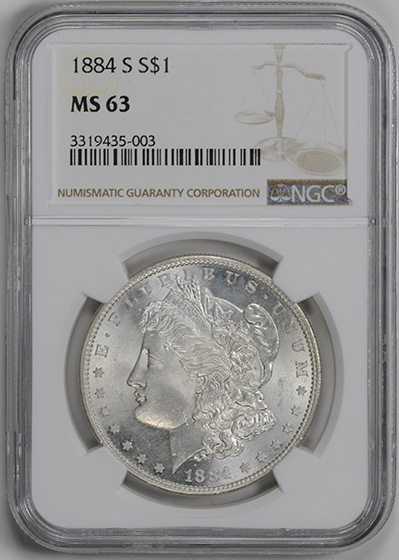 Picture of 1884-S MORGAN S$1 MS63