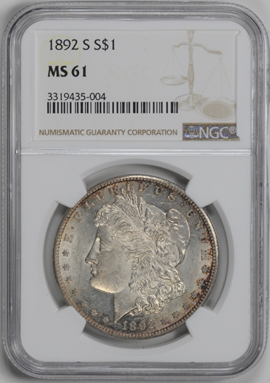 Picture of 1892-S MORGAN S$1 MS61