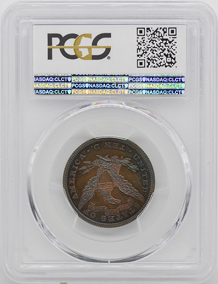 Picture of 1871 LIBERTY $10, J-1173 PR67 Brown