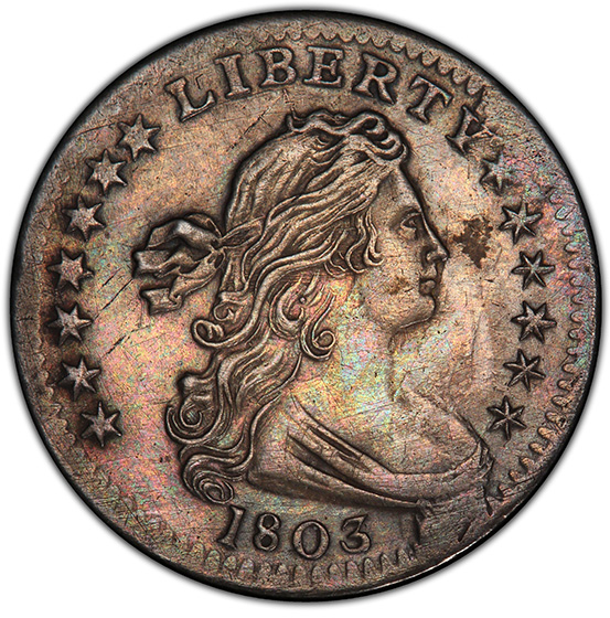 Picture of 1803 DRAPED BUST H10C, SMALL 8, LARGE EAGLE AU55