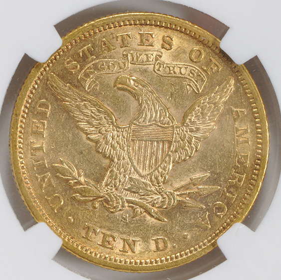 Picture of 1872-S LIBERTY $10, MOTTO MS58