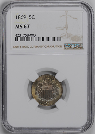 Picture of 1869 SHIELD 5C MS67